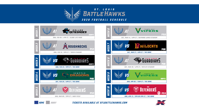 Battlehawks Schedule