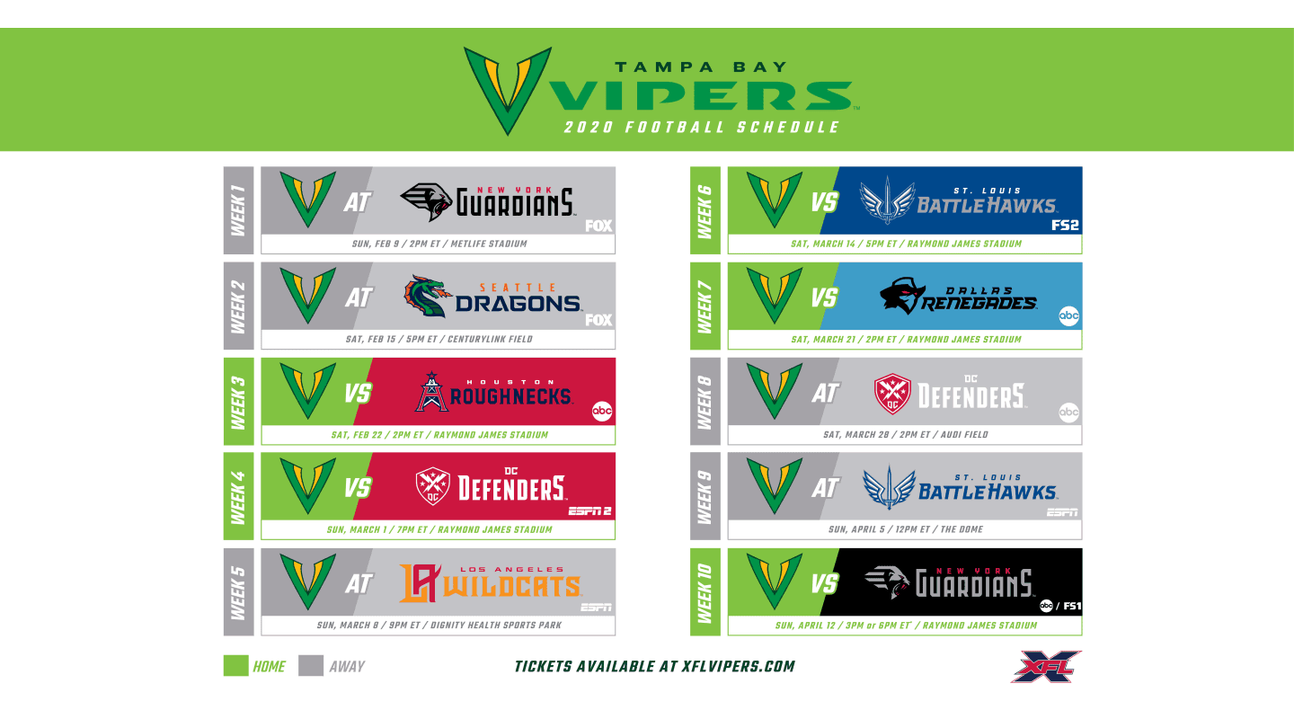 Vipers Schedule