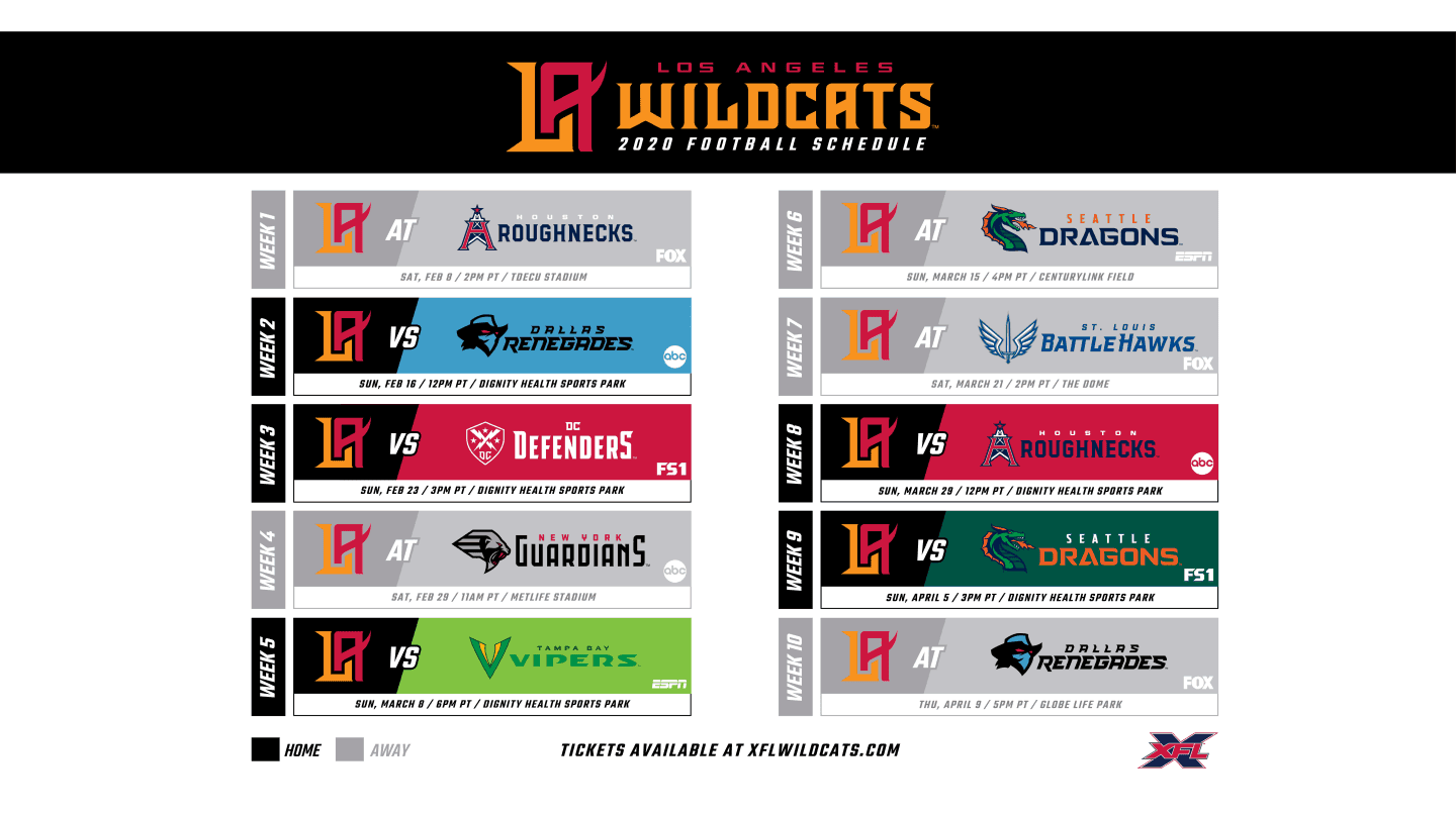 Wildcats Schedule