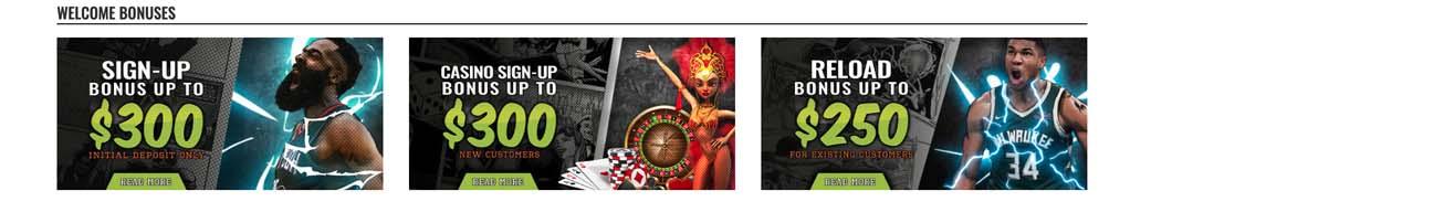 XBet bonus options