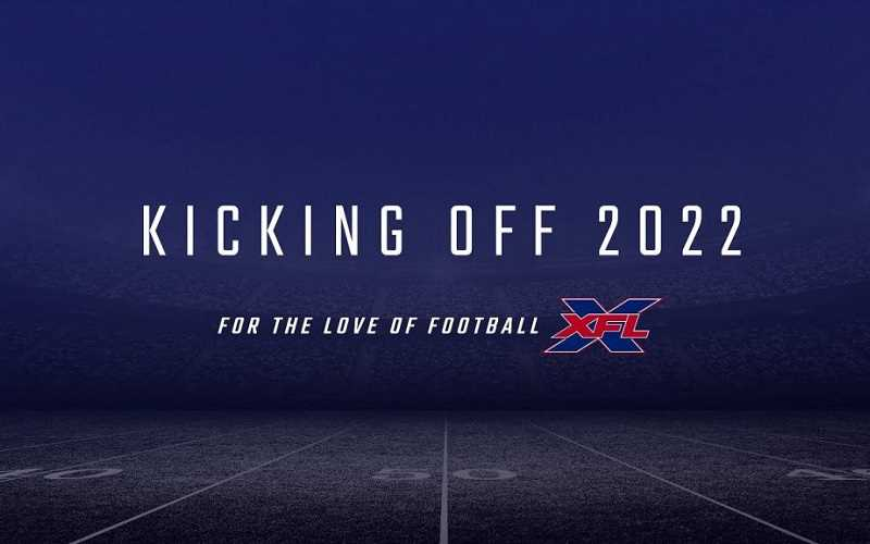Announcement for XFL kickoff in 2022